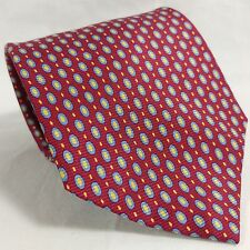 """BROOKS BROTHERS MAKERS 100% SILK TIE RED BLUE YELLOW POLKA DOT 3.75"""" X 56"""""""