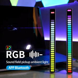 RGB LED Sound Activated Pickup Rhythm Light Strip Music Light Colorful Tube Lamp