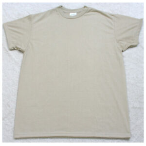 New Skilcraft Military Beige Tee T-Shirt Top Large Short Sleeve Crewneck Men's