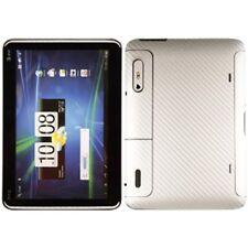 Skinomi Carbon Fiber Silver Tablet Skin Cover+Screen Protector for HTC Jetstream
