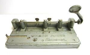 Vintage Wilson Jones Hummer Heavy Duty Industrial 3 Hole Punch 314