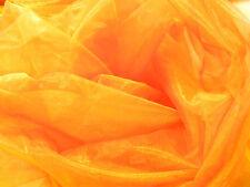 A102 (Meter) Orange Gold Iridescent 2 Tones Crystal Mirror Organza Sheer Fabric
