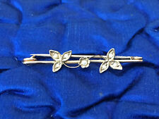 Victorian 9ct Gold Seed Pearl Brooch