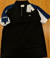 Mens Authentic Lacoste Ultra Dry Zip Polo Shirt Black/Inkwell 8 (3XL) $98