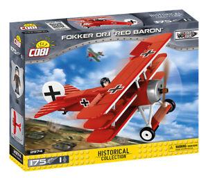 """Cobi-2974 - Fokker DR.I """"Red Baron"""" (175pcs) - Building Blocks - Great War (WWI)"""