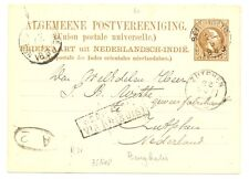 DUTCH INDIES-1889 =NED INDIE VIA BRINDISI = (R 71) KR=BENGKALIS= >>>>