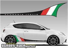 Alfa Romeo Mito PRINTED racing stripes 001 Scuderia Italia graphics decals