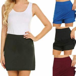 Women Ladies Slim Short Skirt A-line Tennis Sports Short Skirt Plus Size Skort