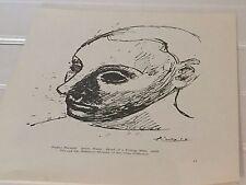 Vintage Pablo Picasso Head of a Toung Man Print Black White 20622