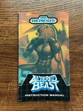 Altered Beast Sega Genesis Game Instruction Manual Only