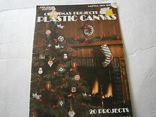 Vtg 1979 Christmas Projects Plastic Canvas Pattern Book Ornament Santa Angel Joy