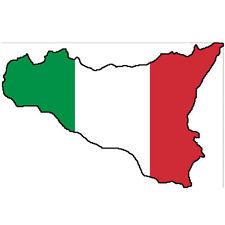 "Auto Aufkleber ""Sizilien"" Sicilia Italien 11cm Decal Vinyl Sticker! konturg."