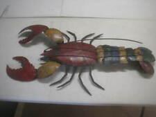 "VTG Metal Lobster Sculpture Wall Decor Decoratian Nautical Beach Sea 48"" x 20"""