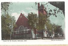 Grace M E Church Kokomo In Postmarked 1910 Methodist Episcopal Postcard 6103