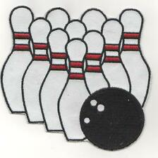 XL TENPIN  BOWLING IRON ON PATCH BUY 2 GET 1 FREE = 3