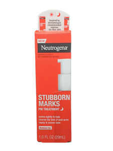 Neutrogena Stubborn Marks PM Treatment with Retinol SA, 1FL OZ (29ml)