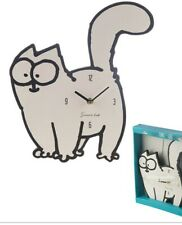 Simon's Cat Shaped Picture Clock Wall