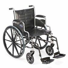 Invacare Lightweight Manual Foldable Folding Wheelchair Removable Desk Arms