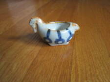 Horse Sauce Bowl Tiny Japanese Ceramic Glazed w/ blue Collectible Soy Takahashi
