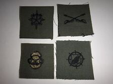 Set Of 4 US ARMY Various Corps Level Subdued Collar Devices Patches Never Used