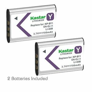 2x Kastar Battery for Nikon EN-EL11 Coolpix S550 S560