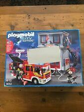 Playmobil 9052 City Action Fire Station Lights Sounds New But Damaged Box
