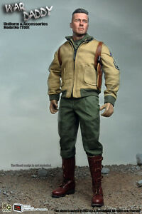 MG Toys X OSK 1/6 Scale WarDaddy Outfit Set With Barrel For Hot Toys Figure Body