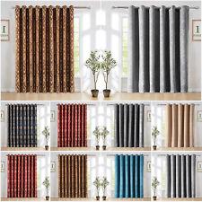 "Thermal Door Curtain Eyelet Ring Top Semi Blackout Curtains + Tieback 66"" x 84"""