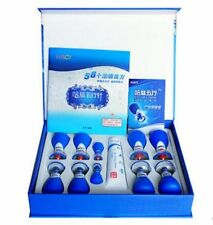New HACI Needle 10 Cups Acupressure Magnetic Suction Cupping Set Relax Massager