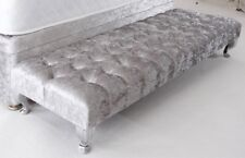 Large Footstool In Crushed Velvet Choice of Colours