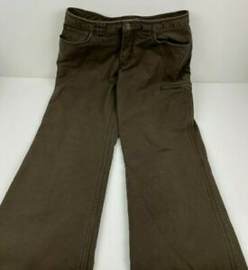 Womens Fleece Lined Work Pants Deluth Trading Insulated Stretch Brown Size 4x29