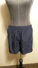 *SJB Active* Wmn's M Navy/Green/Wht Pull-on Panty Lined 1 Pkt Athletic Shorts