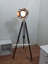 Vintage  Brass Searchlight Spotlight Floor Searchlight Garden Light With Tripod