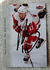 Detroit Red Wings Dan Cleary Signed 09/10 Fleer Ultra Card Auto
