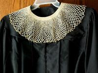 Vintage Ecru Handmade Crocheted Favorite Lace Collar Ruth Bader Ginsburg RBG