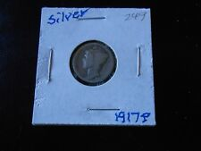 1917 P Mercury Silver Dime circulated # 7611 You grade it!