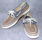 TERRIFIC 10 M  SPERRY TOP SIDER HALYARD MENS GREY BLUE  CANVAS WASH BOAT SHOES
