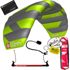 Peter Lynn Hype TR 2.6 M Foil Power Trainer Kite Kiteboarding 2-Line Control Bar
