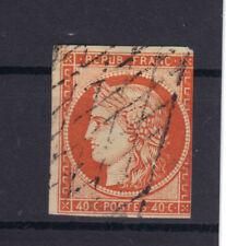 FRANCE SCOTT CERES N°5  40 C  Orange GRILLE SANS FIN  côte 575€  1850 STAMP