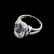 Avon Bold Clear CZ Women's Rope Ring Size 9