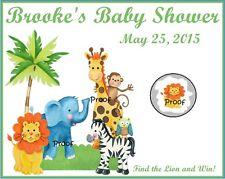 Jungle Baby Shower Scratch Off Tickets