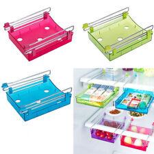 Cassetto scorrevole salva spazio organizer frigorifero contenitore frigo mensola