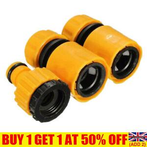 3Pcs/set Garden Watering Hose Pipe Tap Connector Adaptor Fitting Universal UK