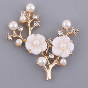 Flower Rhinestone Crystal Wedding Bridal Button Embellishment Sewing Craft
