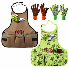 More details for garden apron oxford cloth work multifunction tool aprons with free 1pair gloves