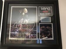 Mark Henry WWE HOF Survivor Series Plaque Signed 128/500
