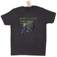 NEW Marvel Comics JayJays Olive Gray Spider-man Green Goblin Tee T-Shirt Size L