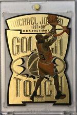 1997-98 Skybox Premium Golden Touch Michael Jordan GT1 Die Cut Insert Amazing !