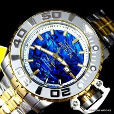 Invicta Sea Hunter Gen II Blu Abalone Diamante Automatico 2 Tono Steel Watch New