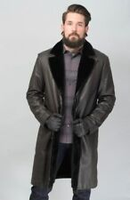 $28K NWT BRIONI Leather Nutria Fur 3Btn Over Coat Jacket 50 M 40 fits L 42